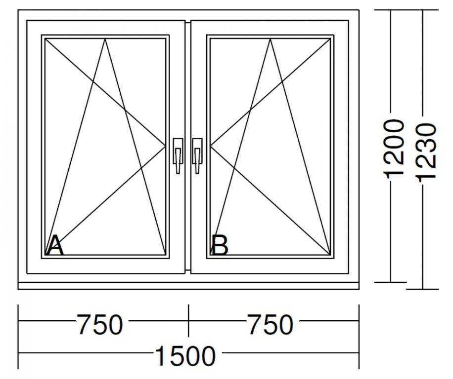 Hervorragend 2-flügeliges Fenster 1500x1200 IDEAL 4000 SW11